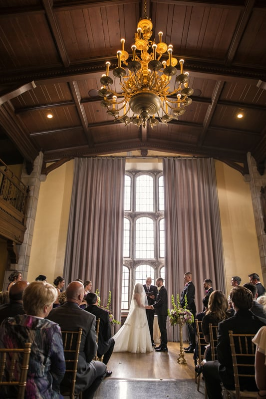 wedding ceremony at tudor arms