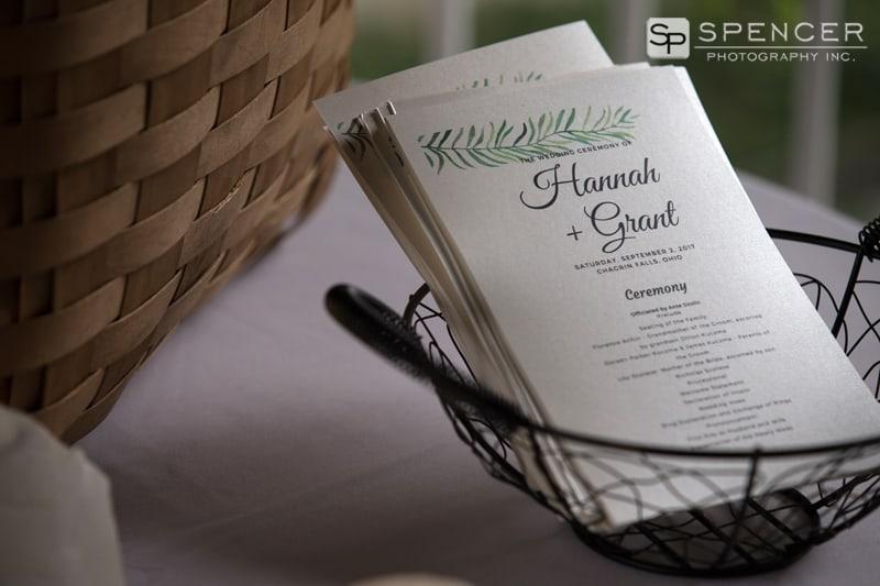 chagrin falls wedding programs