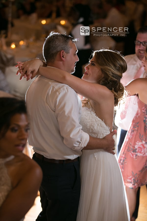 first dance at reception at greystone hall