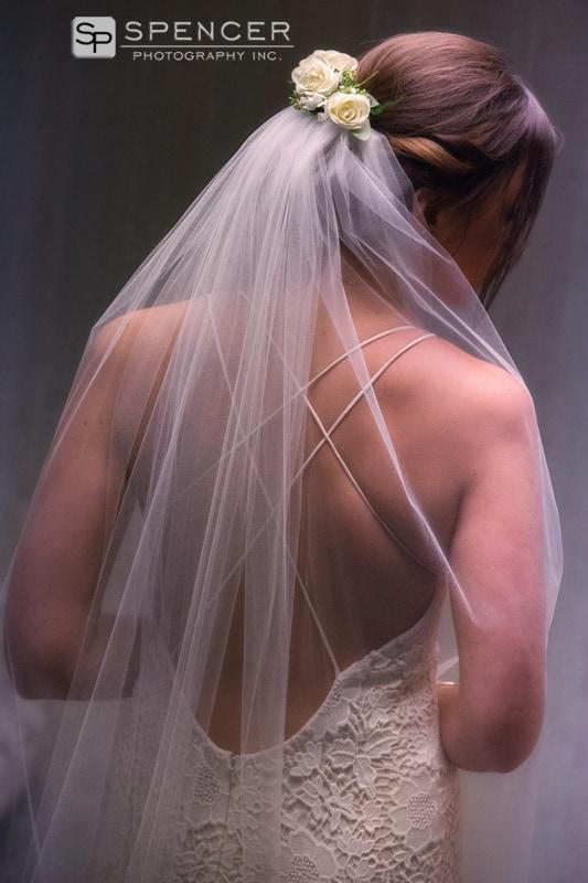 wedding veil detail