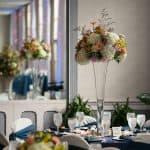 Wedding reception centerpiece at landerhaven