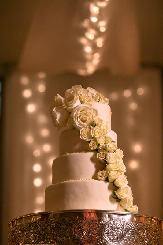 Wedding cake at Landerhaven wedding reception