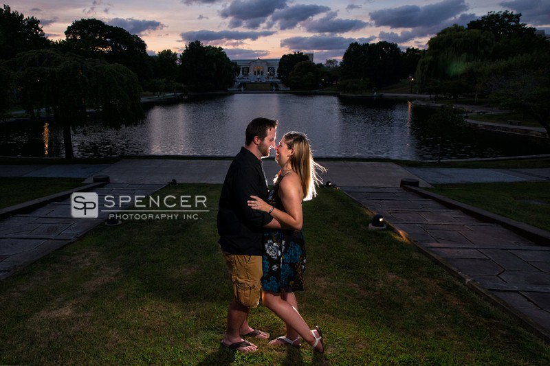 engagement picture at wade oval park