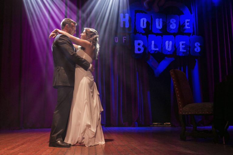wedding reception at house of blues