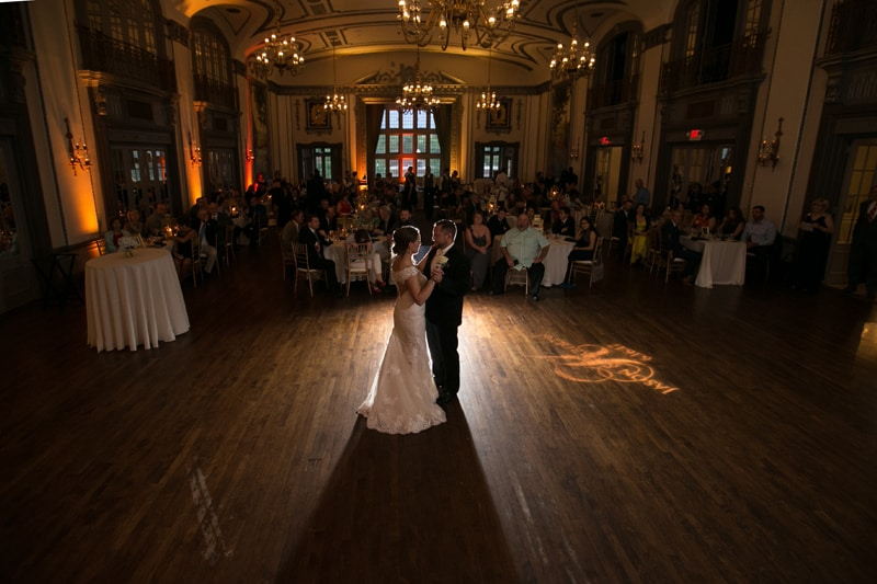 uplighting at tudor arms hotel - a top wedding reception venues in cleveland