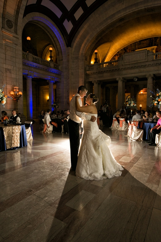 picture of wedding reception at cleveland old courthouse