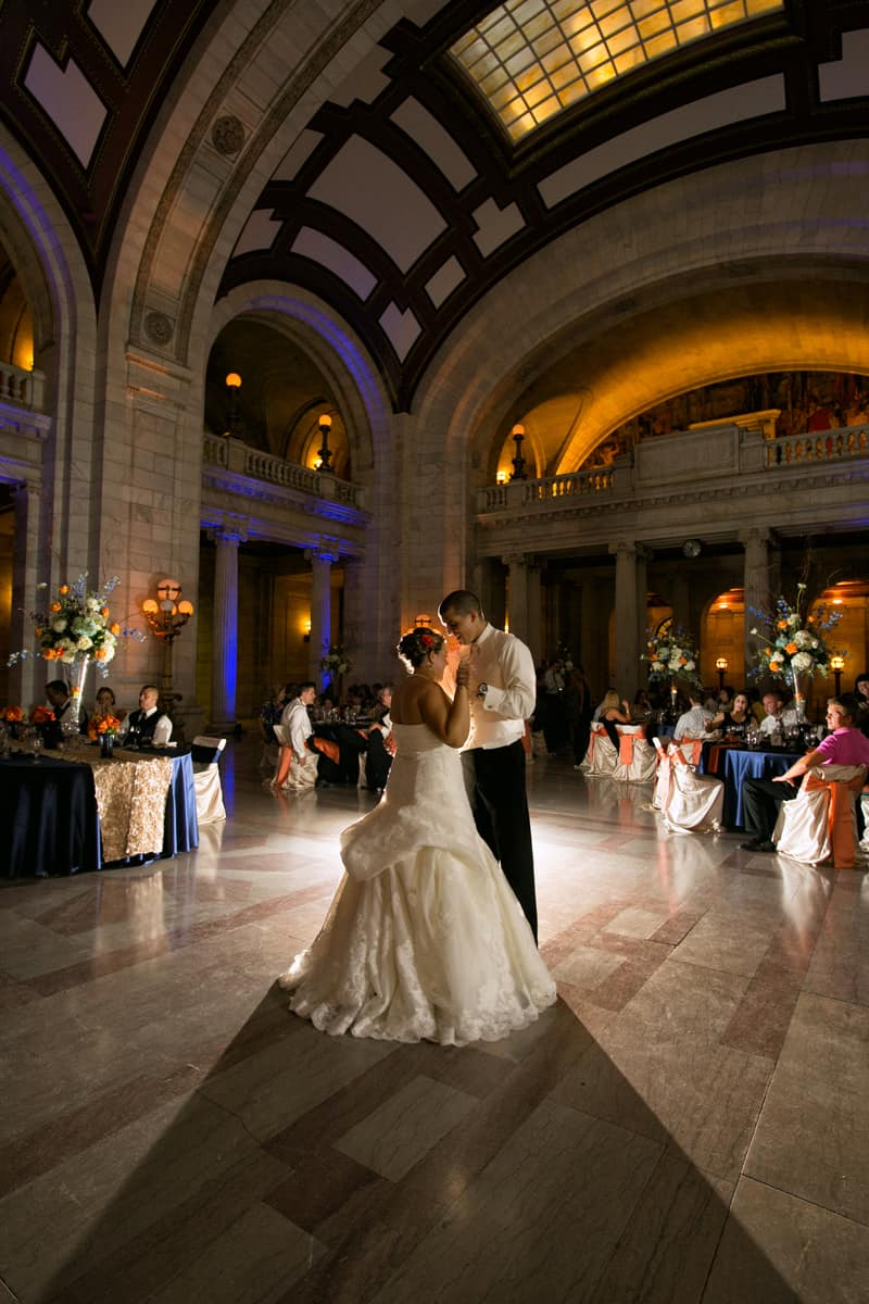 picture of first dance at cleveland old courthouse reception