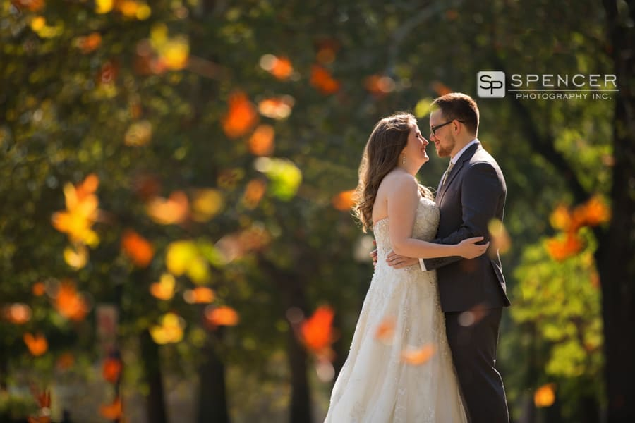 fall wedding picture