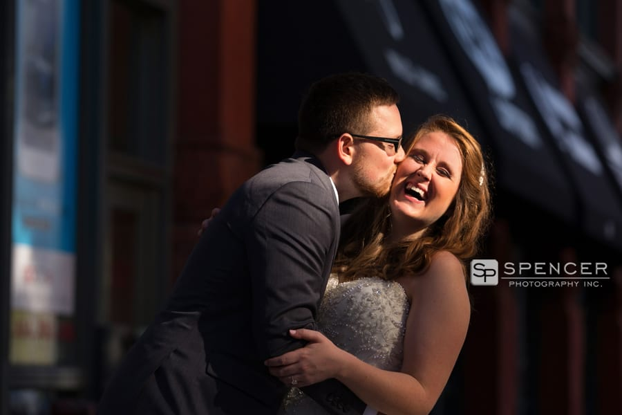 bride and groom in cleveland