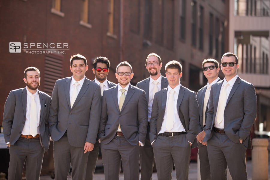 groom with wedding party in cleveland