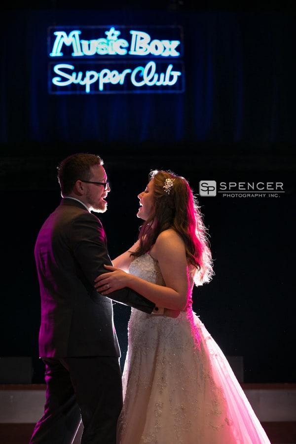 wedding reception at music box supper club