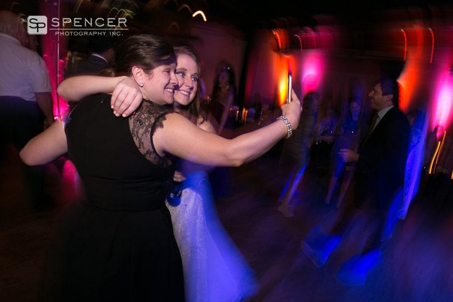 wedding reception selfies at music box supper club