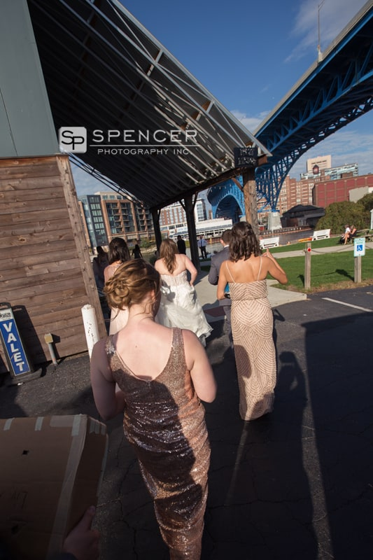 bride arriving at music box supper club