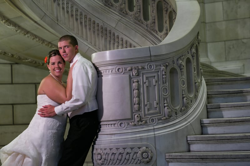 cleveland old courthouse wedding picture