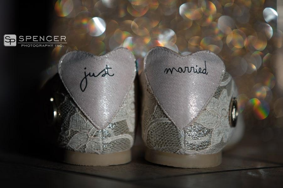 wedding shoes at music box supper club