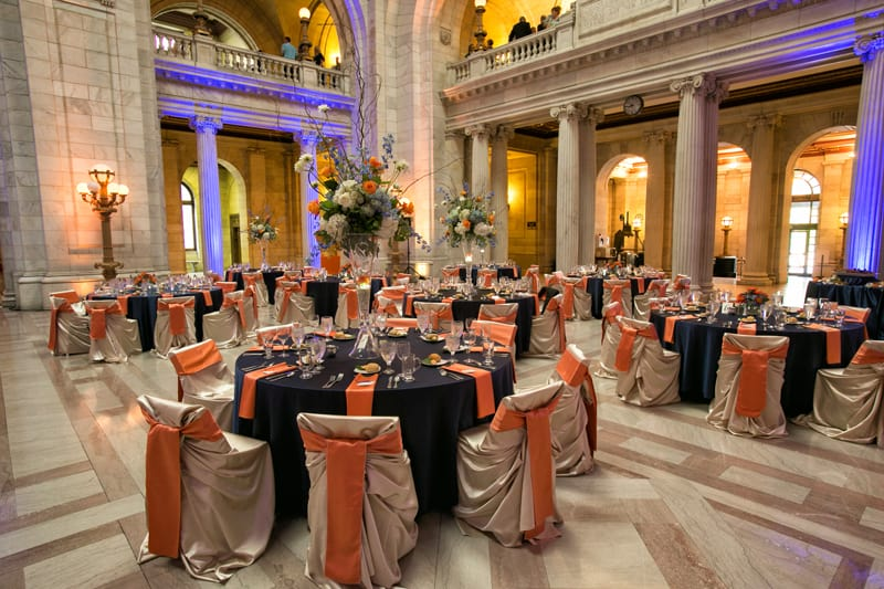 wedding reception at cleveland old courthouse
