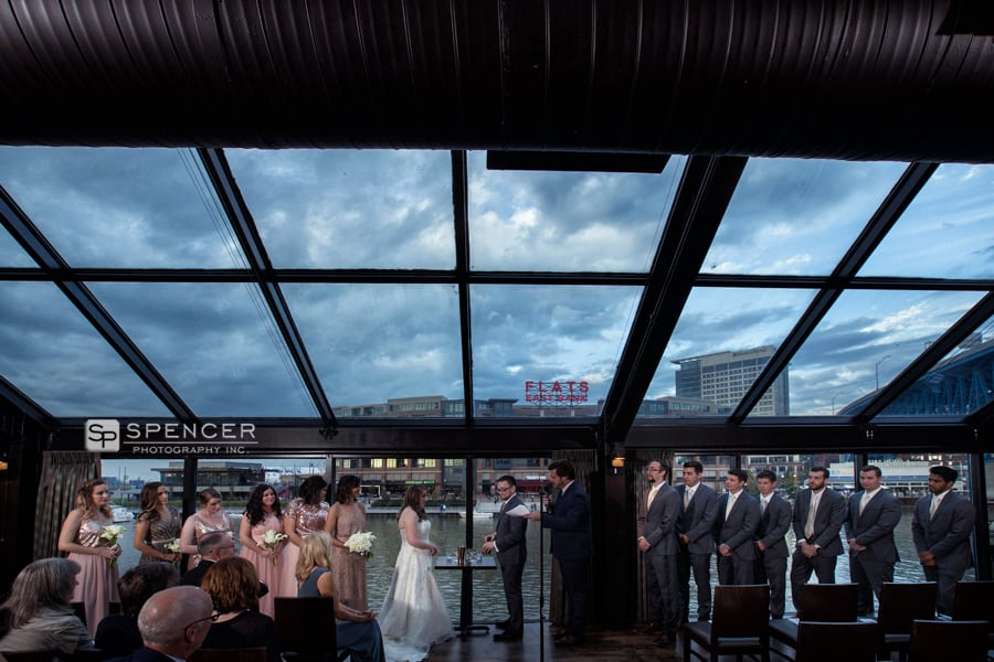 wedding ceremony at music box supper club