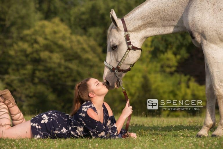 Kennedy's Senior Pictures with her Horse // Akron Senior Portrait Photographers