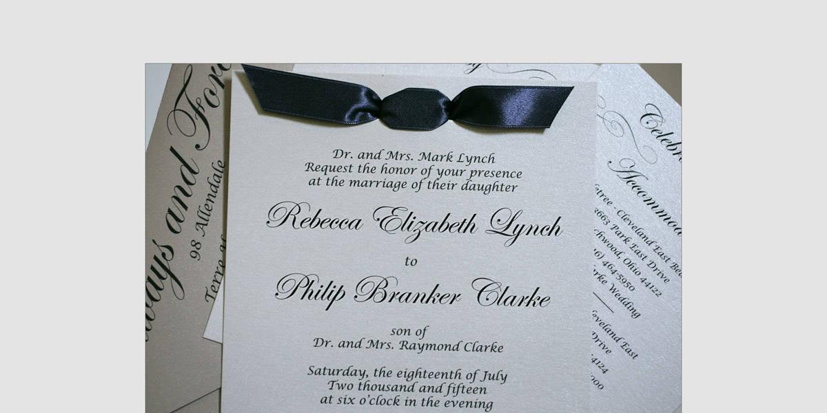 Wedding program at Landerhaven
