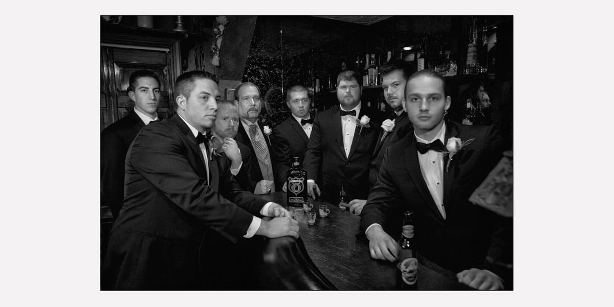 Wedding portrait of groomsmen
