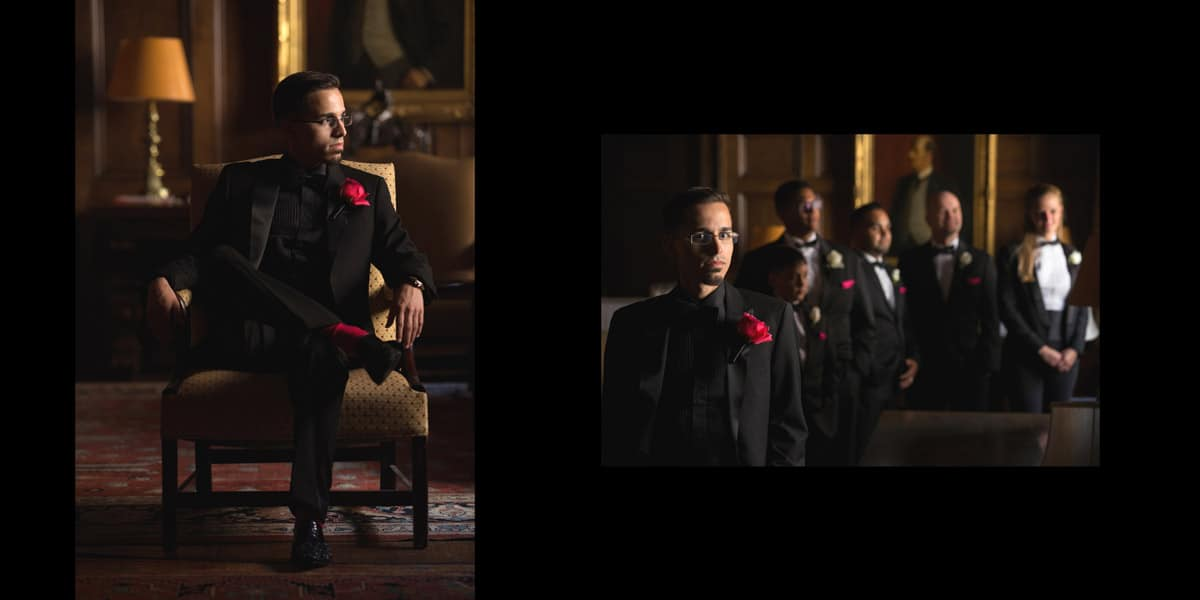 Groomsmen on wedding day at Union Club