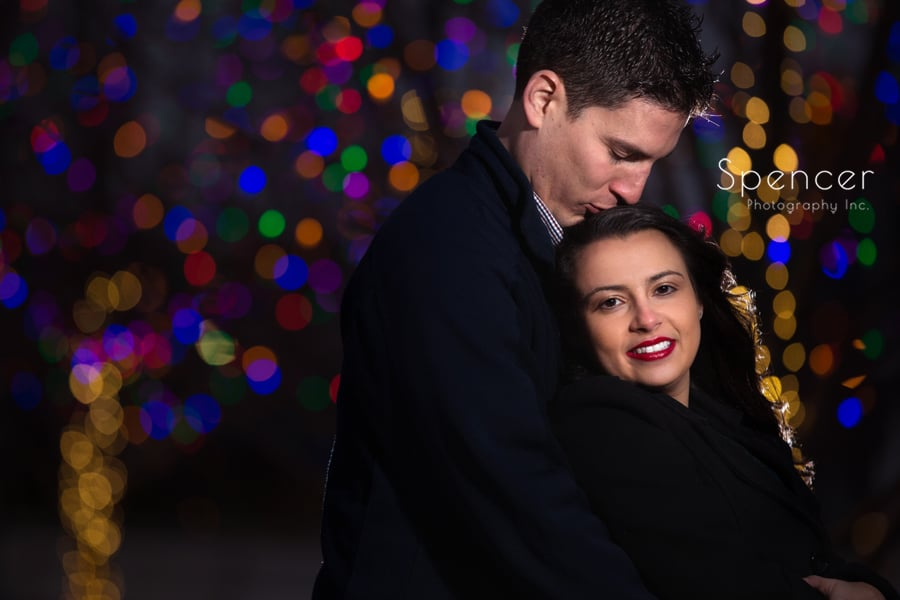 Engagement picture in Cleveland Public Square