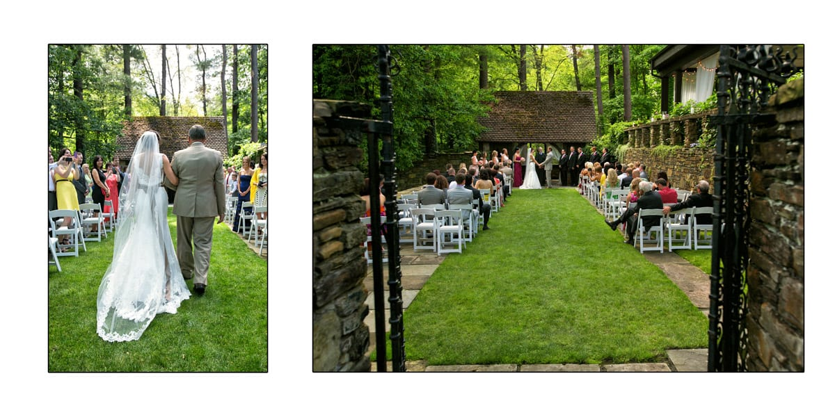Wedding ceremony at the Club at Hillbrook