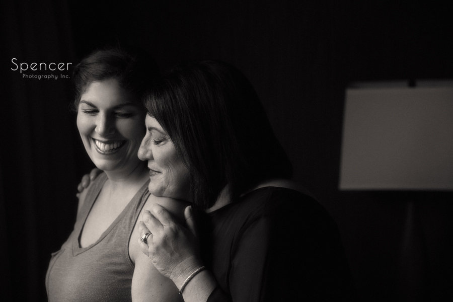 a moment between mom and bride