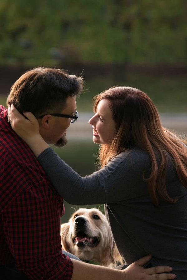 Dog interupting Nick and Salena