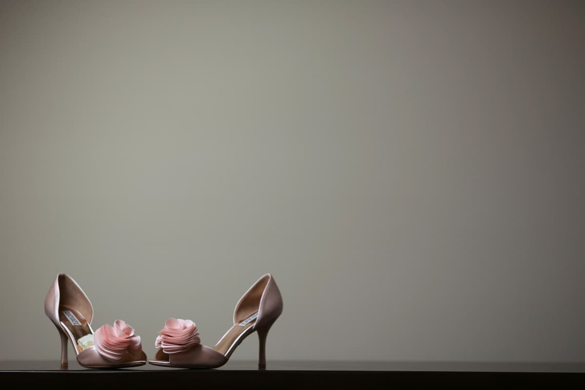 Simple picture of bride's shoes
