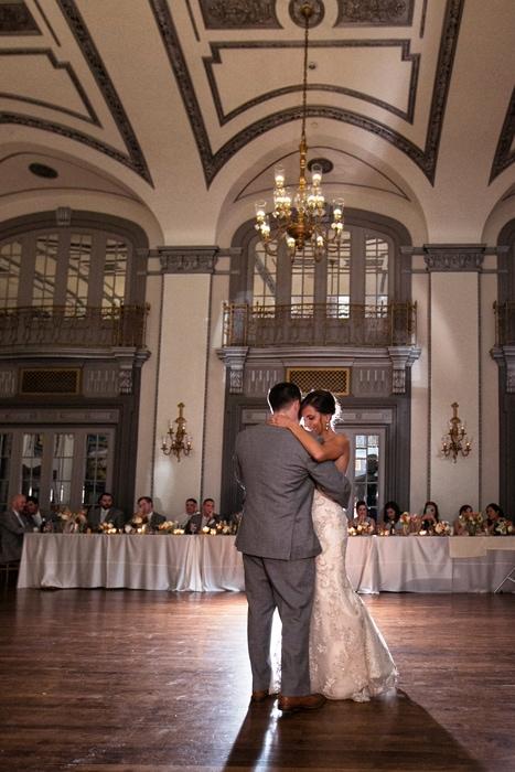 first dance at tudor arms wedding reception