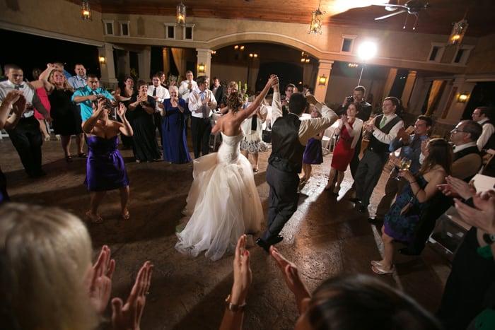 wedding reception fun at Gervasi Vineyards