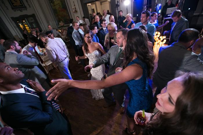 partying hard at wedding reception at tudor arms