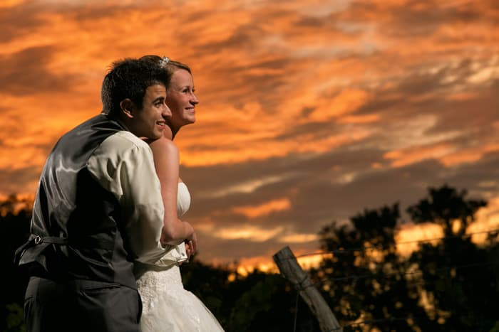 wedding picture of bride and groom at Gervasi