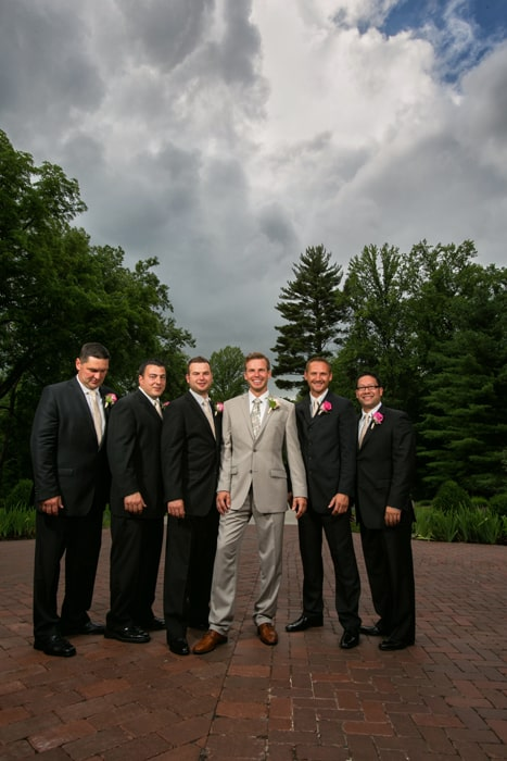 groomsmen picture at club at hillbrook