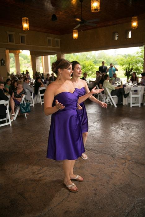 bridesmaids give speech at Gervasi reception