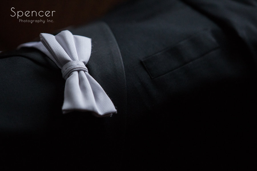 groom tux waiting for him at the bertram inn