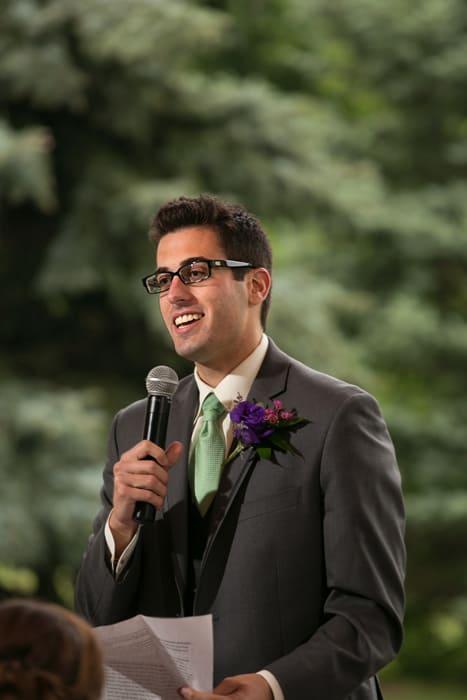 best man giving speech at Gervasi
