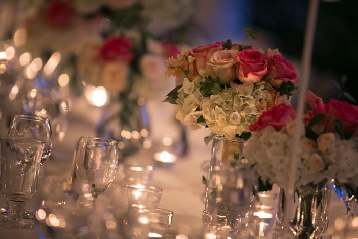 reception head table at hillbrook