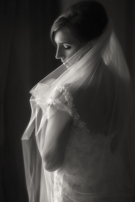 picture of the bride on her wedding day at tudor arms