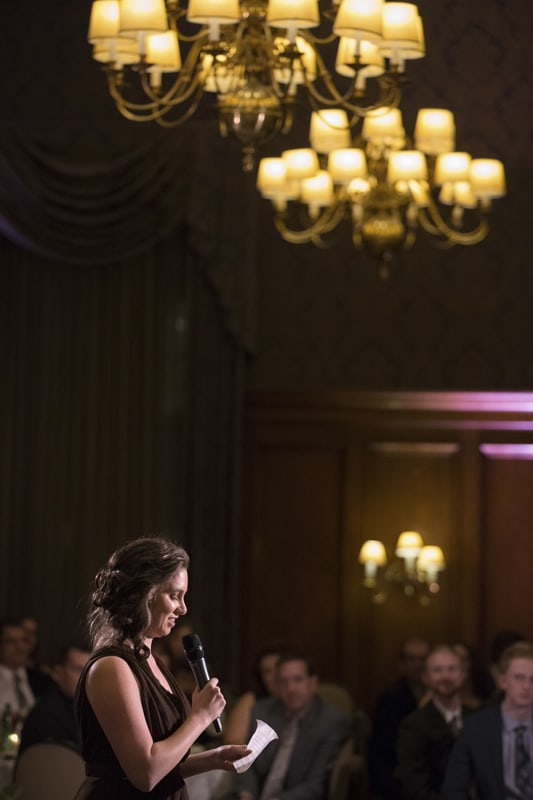 maid of honor speech at wedding reception at union club of cleveland