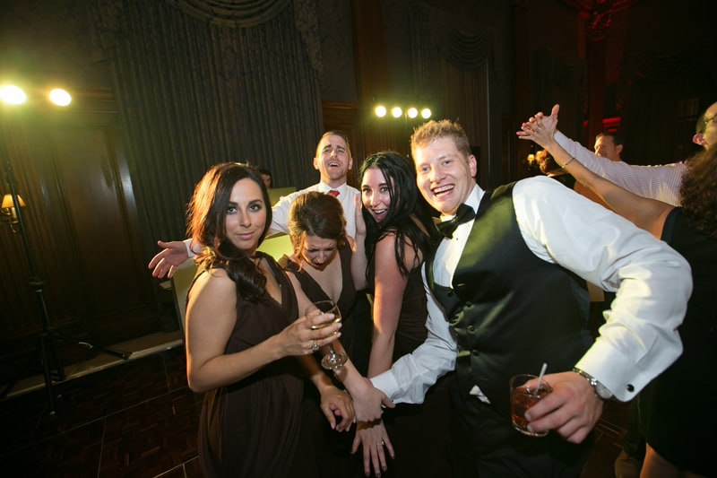 bridal party dancing at union club