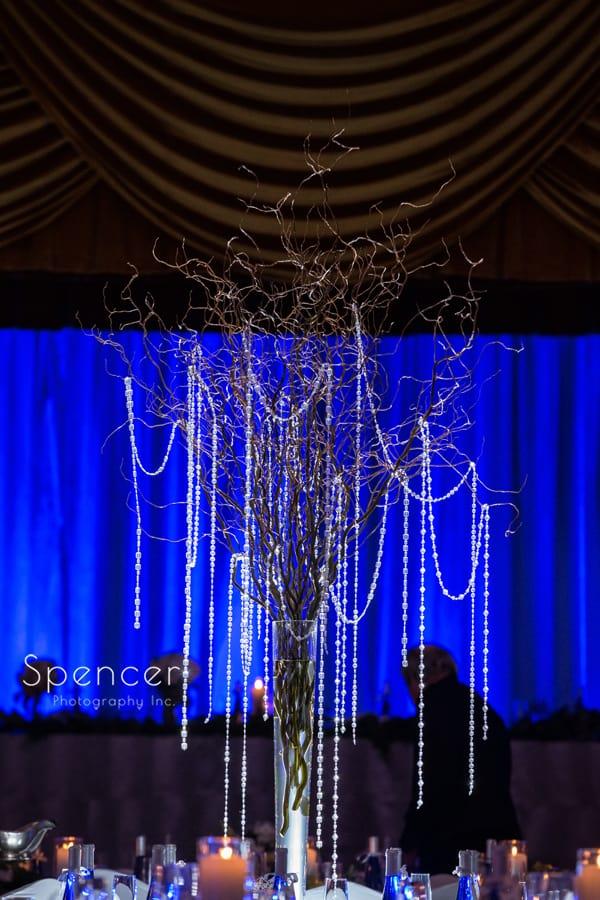 gorgeous centerpiece at wedding receptiona at cleveland renaissance