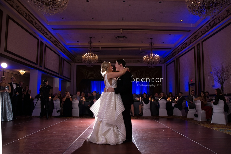 first dance at wedding reception at cleveland renaissance