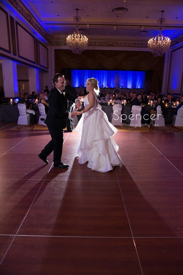 bride and her dad dancing at renaissance reception