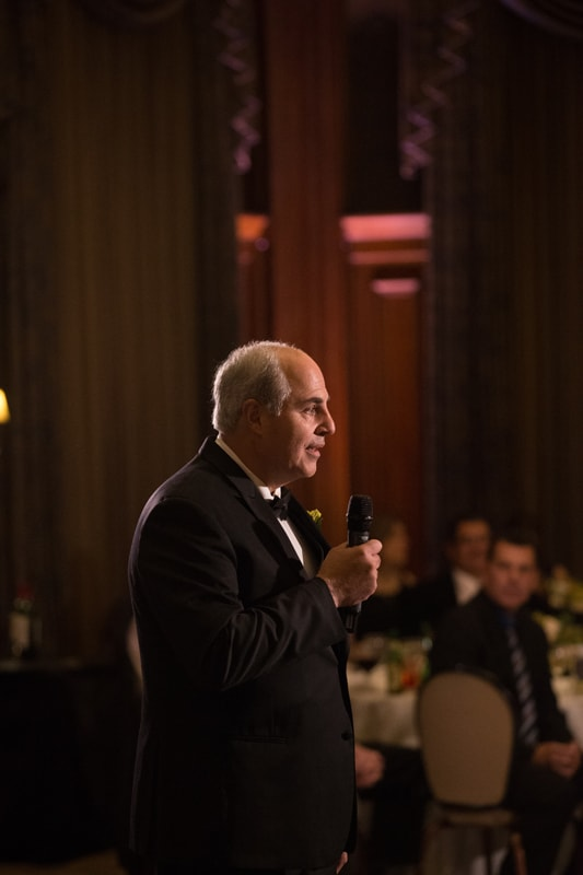father of bride giving reception speech at union club