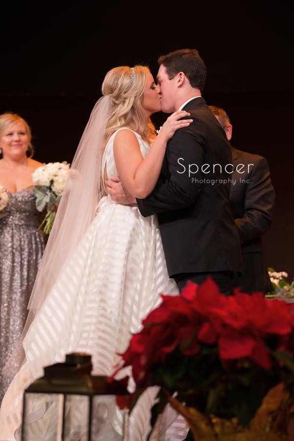first kiss at parkside church wedding