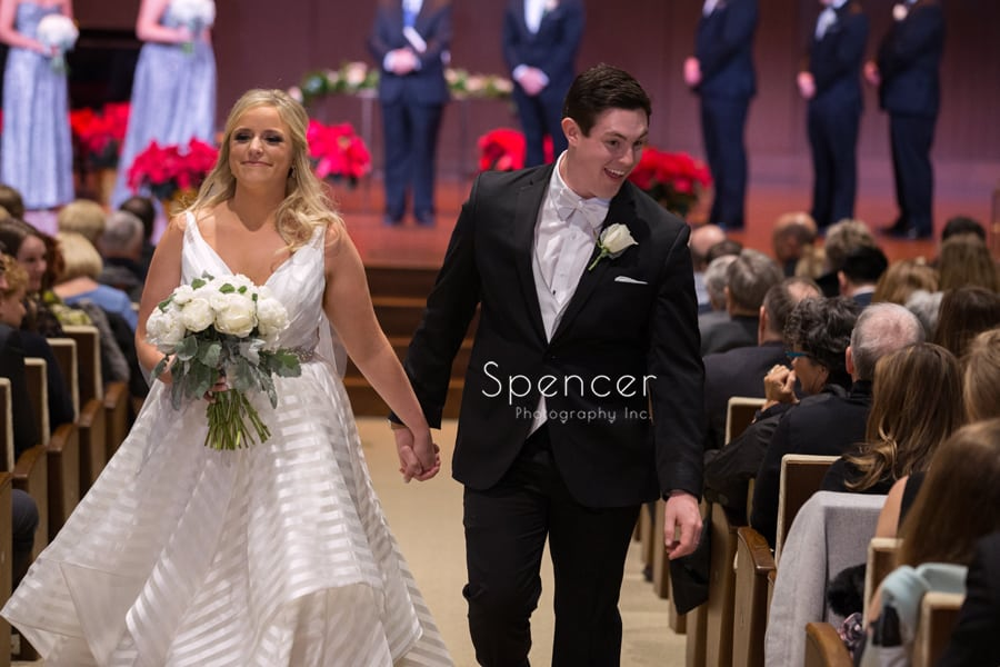 wedding recessional at parkside church