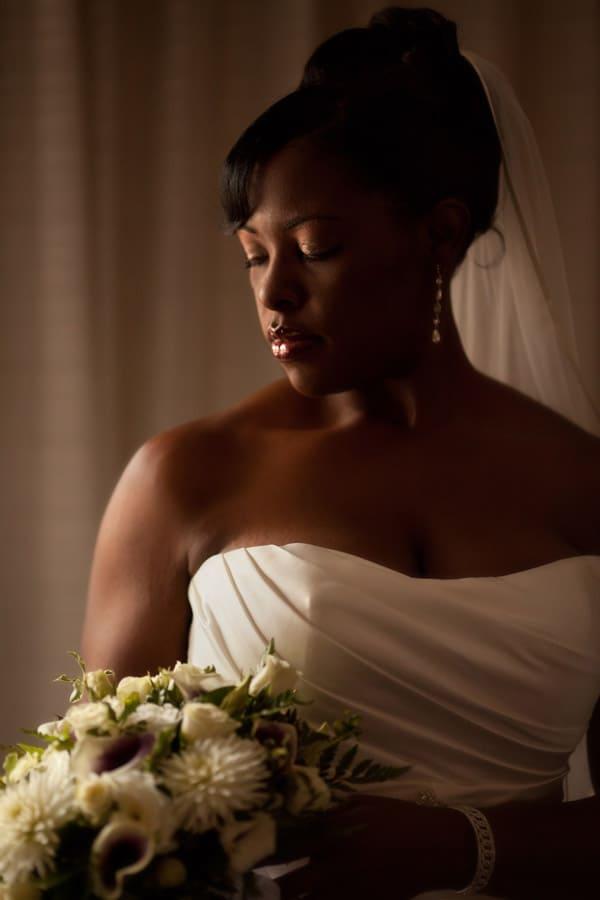 bridal portrait at club at key center