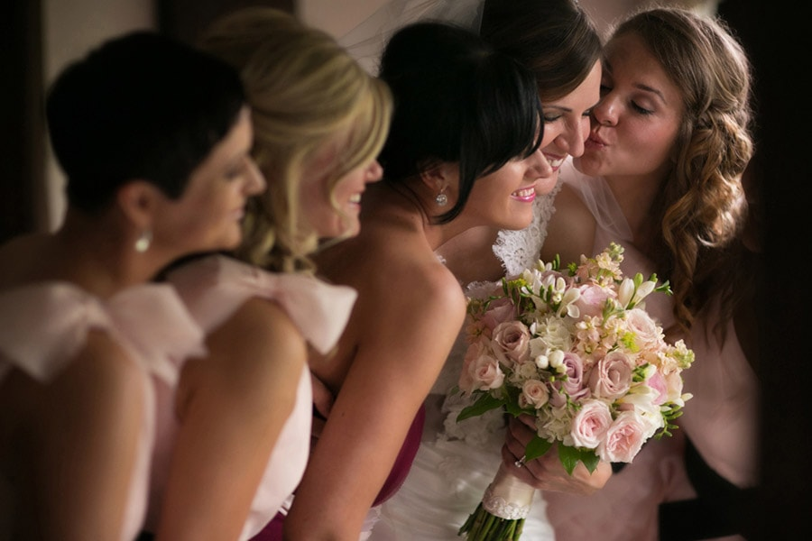 bridesmaids at club at hillbrook